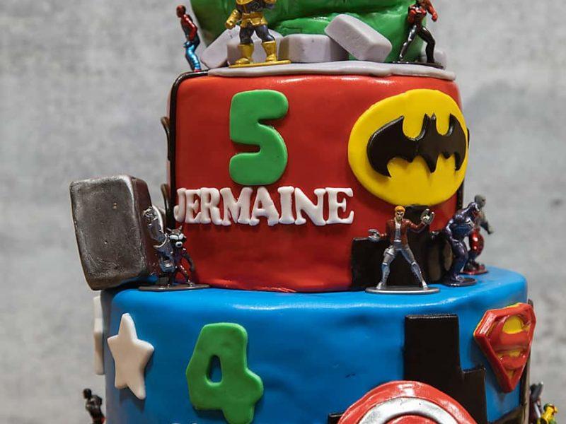 Avengers superhero cake